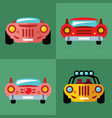 set of cars flat style colorful cartoon vector image