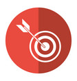 target arrow strategy market shadow vector image