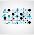 modular bauhaus blue background created from vector image