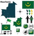 Mauritania map vector image vector image