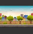 seamless street city landscape for game ui vector image