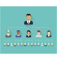Flat icons of persons vector image