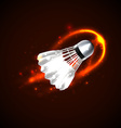 Shuttlecock on fire vector image vector image