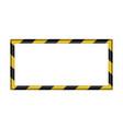 3d warning striped rectangular background vector image