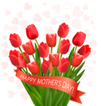 Holiday mothers day background with bouquet of vector image vector image