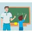 math education vector image