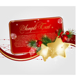 xmas floral cards vector image