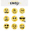 Hand drawn set of emoticons set of emoji vector image vector image