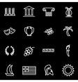 line greece icon set vector image