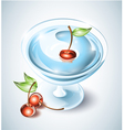 Cocktail drink with cherries vector image