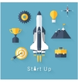 Concept of new business project startup vector image