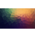 Gradient abstract polygon background vector image