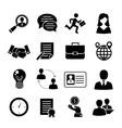 Job interview set vector image