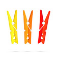 Pegs - Yellow Orange and Red vector image