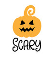 scary pumpkin halloween party poster vector image