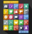 Social Share Activity Flat Icon Long Shadow vector image