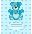 baby boy greeting card background eps10 vector image vector image