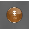 Office wood application icons vector image