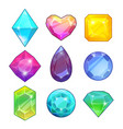 different gemstones brilliants and diamonds in vector image