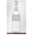 wine bottle poster vector image vector image
