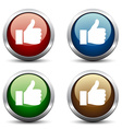 thumb up buttons vector image