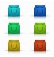 modern shooping bag icons set vector image