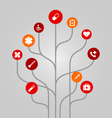 Abstract icon tree concept - medicine and health vector image