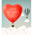 Mothers day over sky landscape background with air vector image