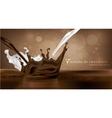 sweet chocolate milk and spray texture vector image