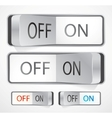 toggle switch vector image vector image
