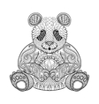 Hand drawn tribal Panda animal totem for adult vector image vector image