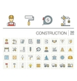 Construction industrial color icons vector image vector image