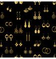 various gold ladies earrings types seamless vector image
