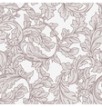 Baroque floral pattern vector image