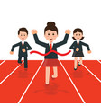 Business people running race competition vector image