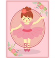 Cute Pink Ballerina Girl vector image