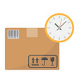 delivery time flat icon logistic and delivery vector image
