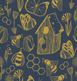 Honey Meadows seamless pattern vector image