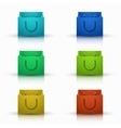 modern shooping bag icons set vector image