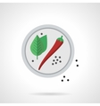 Spicy menu flat color icon vector image