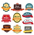 Set of blank badges vector image