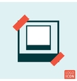 Photo frame icon vector image vector image