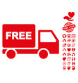 free delivery icon with lovely bonus vector image