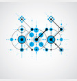 bauhaus blue abstract background made with grid vector image vector image