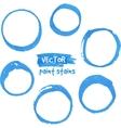 Blue marker paint circles set vector image vector image