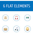flat icons lyre tone symbol radio and other vector image