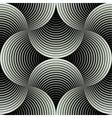 Ornate Geometric Petals Grid Seamless Pattern vector image