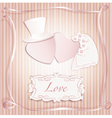 Wedding heart pink vector image