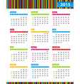 Annual Calendar for 2013 Year vector image