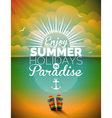 summer holiday on seascape background vector image